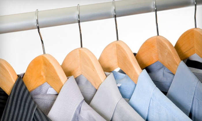Dry Clean Club - Santa Ana: Dry Cleaning for Five Pairs of Pants and Five Shirts or Bridal-Gown Preservation at Dry Clean Club in Santa Ana