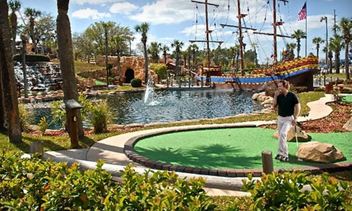 Pirate's Island Adventure Golf - Multiple Locations: $15 for an All-Day Pass for Two to Pirate's Island Adventure Golf and Pirate's Cove (Up to $31.50 Value). Five Locations Available.