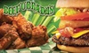 Beef O Brady's Apopka- OOB - Multiple Locations: $10 for $20 Worth of American Casual Fare at Beef 'O' Brady's. Choose from Four Locations.