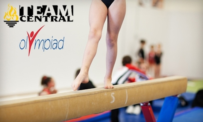 Team Central Gymnastic Academy or Olympiad Gymnastic Training Centers - Multiple Locations: $22 for Three 50-Minute Children's Gymnastics Classes at Team Central Gymnastic Academy or Olympiad Gymnastic Training Centers (Up to $49.65 Value)