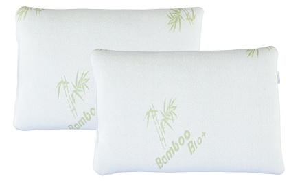 Bamboo-Rayon Memory Foam Pillow (1-, 2-, or 4-Pack)