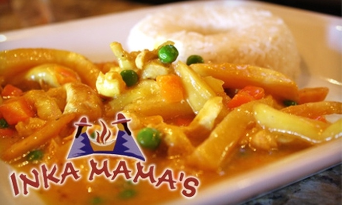 Inka Mama's - Multiple Locations: $10 for $20 Worth of Peruvian Fare and Drinks at Inka Mama's. Choose Between Two Locations.