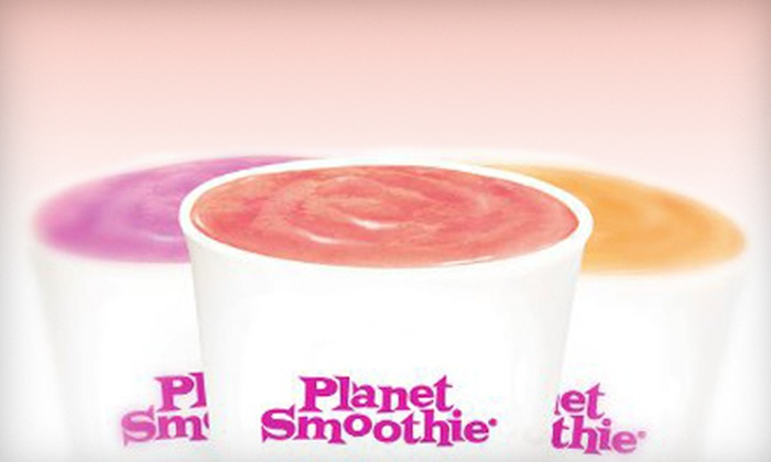 Planet Smoothie - Peachtree City-Tyrone: $10 for Five 22-Ounce Smoothies at Planet Smoothie in Peachtree City ($22.95 Value)