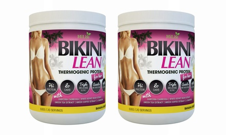 $18.95 for Three Bikini Lean Banana Thermogenic Protein 500g Shakes with Garcinia Cambogia Don't Pay $72.12
