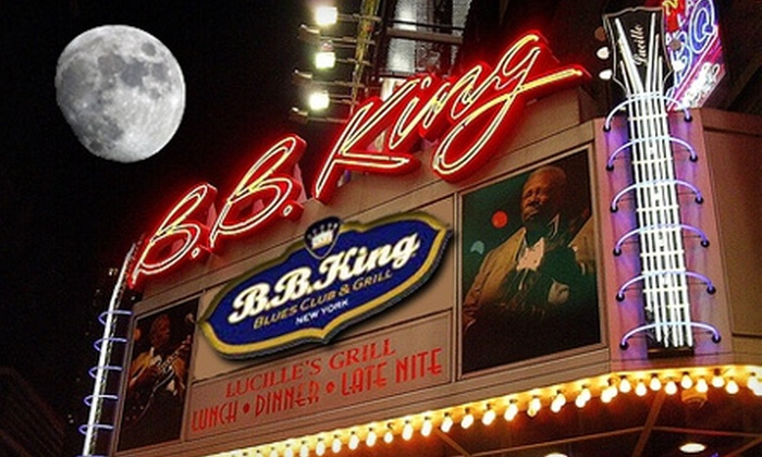 B.B. King Blues Club & Grill - Theater District - Times Square: One Entry to a Variety, Jazz, Rock, R & B, Holiday, or Blues Show at B.B. King Blues Club & Grill. 13 Shows Available.