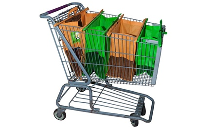 Magic Bag Reusable Shopping Cart Bag Set (4-Pack)