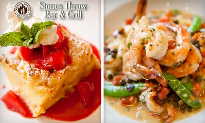 Stone's Throw Bar & Grill - Chelsea: $20 for $40 Worth of Contemporary American Fare and Non-Alcoholic Drinks at Stone's Throw Bar & Grill