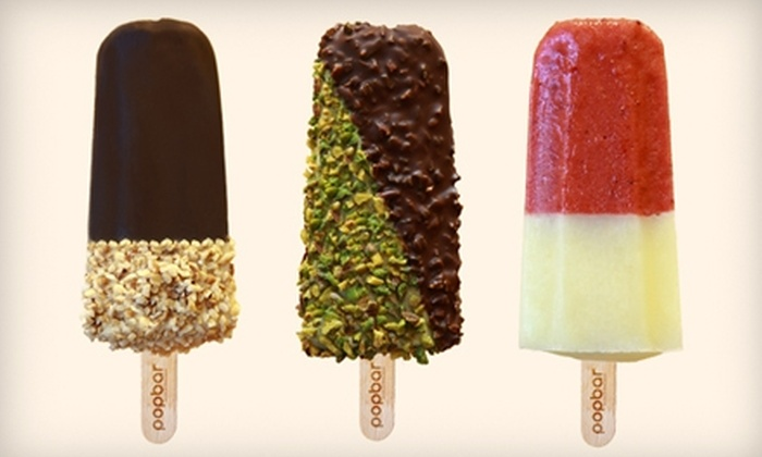 Popbar - West Village: $12 for a Six-Pack of Assorted Gelato and Sorbetto and a Reusable Thermal Bag at Popbar