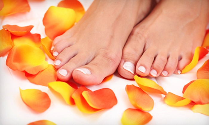 The Nails Spa - MidWest: Luxury Hot-Stone Mani-Pedi or Shellac Manicure and Hot-Stone Pedicure at The Nails Spa in Davie (Up to 56% Off)