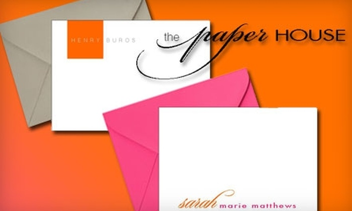 The Paper House - Multiple Locations: $20 for $50 Worth of Premium Paper Products at The Paper House