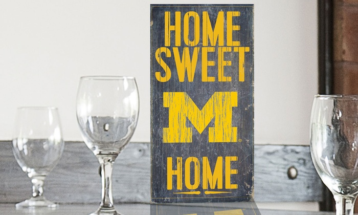 "NCAA Home Sweet Home 12""x6"" Sign"