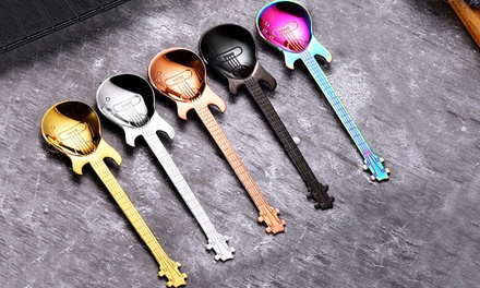 Four or Eight GuitarShaped Spoons