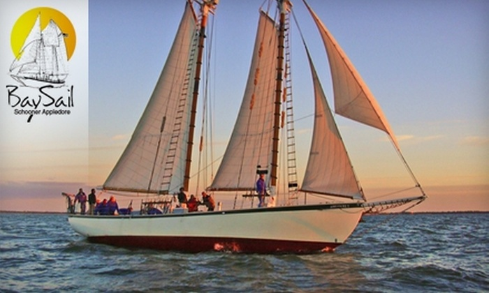Appledore V - Estero Island: $30 for Two Tickets to an Afternoon Day-Sail Cruise on the Schooner Appledore V (Up to $60 Value)