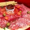 Tagliere salumi e formaggi e vino