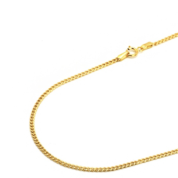 14k Gold 2mm Italian Cuban Chain Necklace By Moricci Groupon