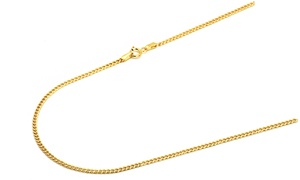 14K Gold 2MM Italian Cuban Chain Necklace by Moricci