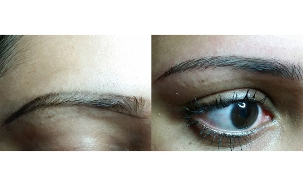 Korean 6d eyebrow embroidery with touch up session at my for 1 salon eyebrow embroidery