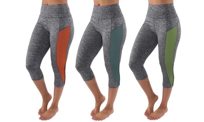 Women's Moisture-Wicking Yoga Capris (3-Pack)