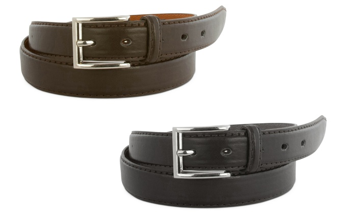 Buy One Get One Free: Men's Leather Dress Belts (2-Pack)