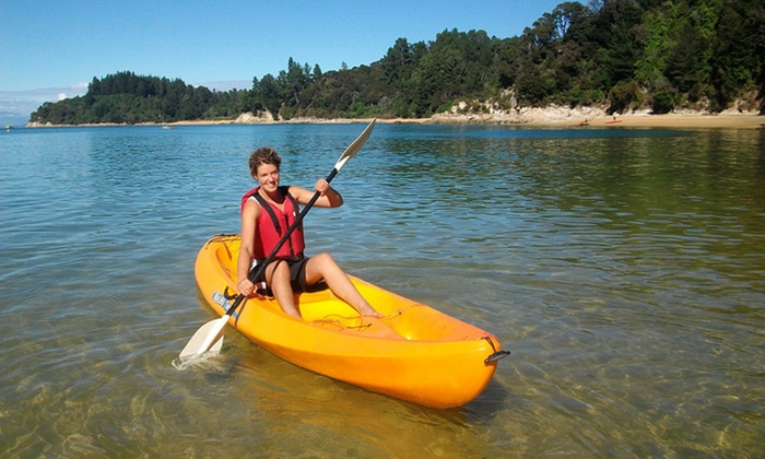 Abel Tasman SUP - Marahau, Motueka: Full-Day Hire of One ($89), Two ($175) or Four Double Kayaks ($339) from Abel Tasman SUP (Up to $480 Value)