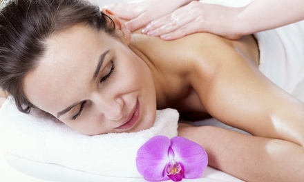$58 for Package with Massage or Three Brazilian Waxes at Pure Elegance Spa ($165 value)