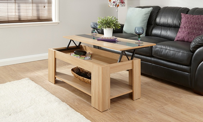 Gloss Lift-Top Coffee Table in Choice of Colour