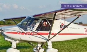 Lift Flugsport: Rundflug selber fliegen im Ultraleichtflugzeug inkl. Einweisung und Landung bei Lift Flugsport (bis zu 52% sparen*)