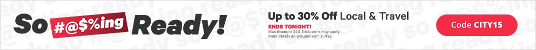 Use code CITY15 and enjoy up to an extra 30% off Local & Travel. Ends tonight. Some deals excluded.
