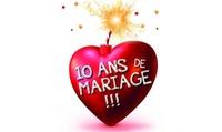 """1 place en cat 1 pour """"10 ans de mariage"""" du 18 septembre au 18 décembre 2016 à 14 € au Théâtre de Lulu sur la Colline"""