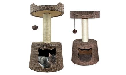 ASPCA Deluxe Cat Condo & Hammock with Swat Toy
