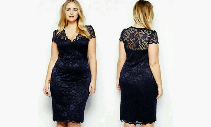 Lace Formal Plus Size Dress for €12.99 (74% Off)