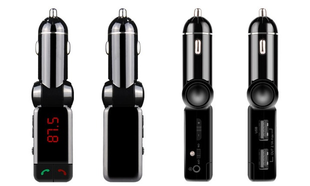 4 in 1 Bluetooth Car Hands Free Kit with Music Transmitter : One ($16) or Two ($29)