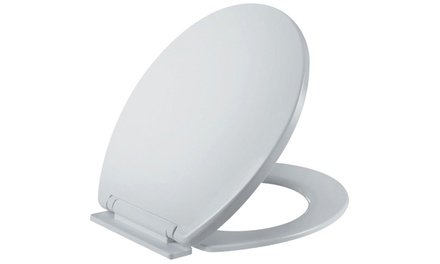 One or Two Universal Easy Fit Soft Close White Toilet Seats