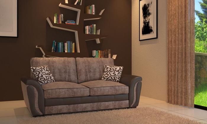Wondrous Brazil 3 2 Formal Back Sofa Set Groupon Goods Pabps2019 Chair Design Images Pabps2019Com
