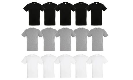 Pack de 5 o 10 camisetas de algodón unisex