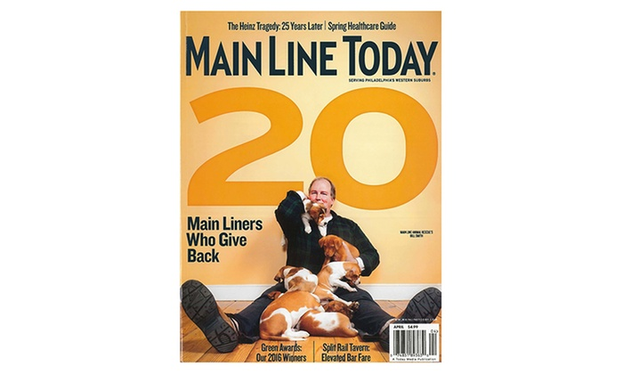 """Main Line Today Magazine: One- or Two-Year Subscription to """"Main Line Today"""" Magazine (Up to 53% Off)"""