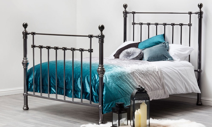 york black nickel bed frames