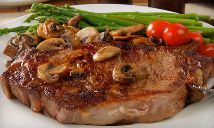 DC Steak House - Downtown Chandler: Steak-House Food and Drinks at DC Steak House (Half Off). Four Options Available.