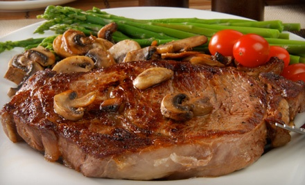 Steak-House Food and Drinks at DC Steak House (Half Off). Four Options Available.
