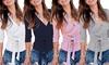 Women's Cross Knitted Top
