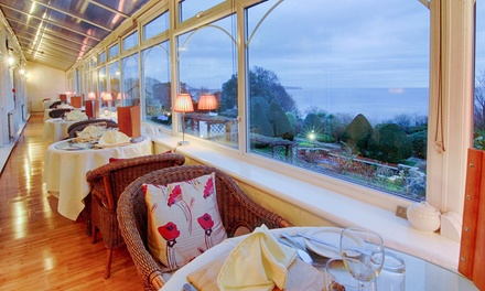 Isle of Wight: 13 Nights for Two with Breakfast, 2Course Dinner, Ferry and Spa Access at Luccombe Hall Hotel