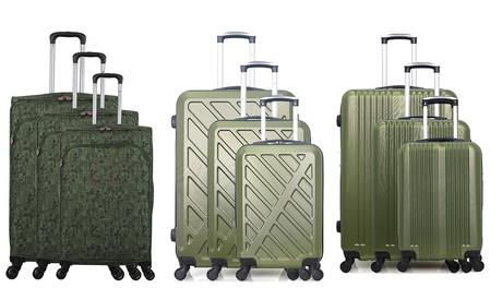 Set de 3 maletas Bluestar colección Kaki
