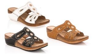 Lady Godiva Women's Mia Comfort Summer Wedge Sandals