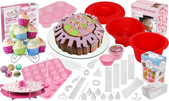Cake Decorating Kit Groupon : Cupcake Decorating or Baking Sets Groupon Goods