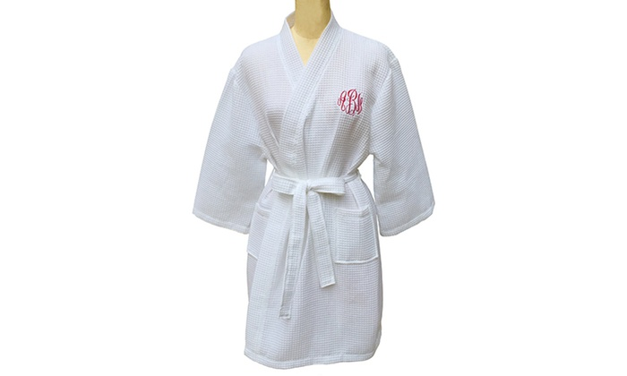 Monogrammed Waffle Robe from Social Monograms