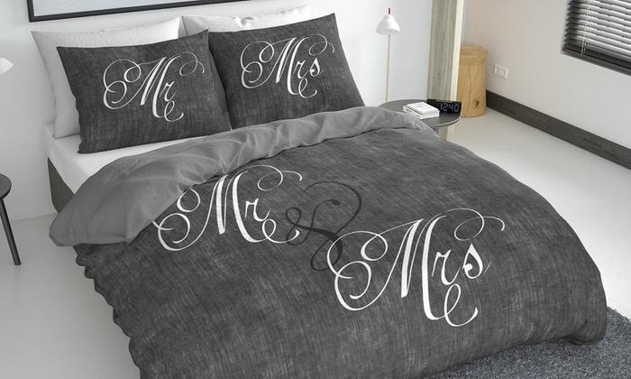 housse de couette satin de coton groupon shopping. Black Bedroom Furniture Sets. Home Design Ideas