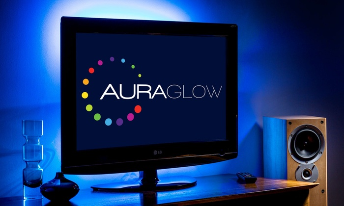 One or Two Auraglow LED Colour-Changing USB TV Backlight Strips from £4