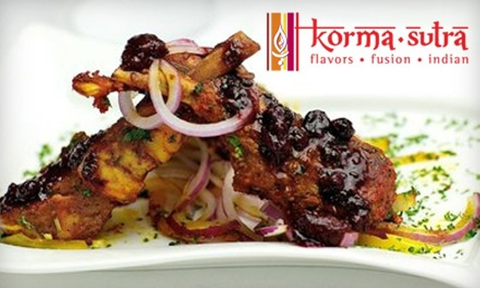 Korma Sutra - Downtown: $15 for $30 Worth of Lunch or $25 for $50 Worth of Dinner at Korma Sutra