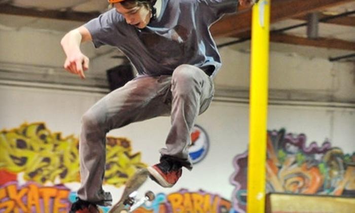 Skatebarn Indoor Skate Park - Renton: $20 for Five-Session Punch Card to Skatebarn Indoor Skate Park in Renton ($45 Value)