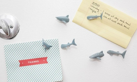 One or Two Sets of Shark or Whale Fridge Magnets